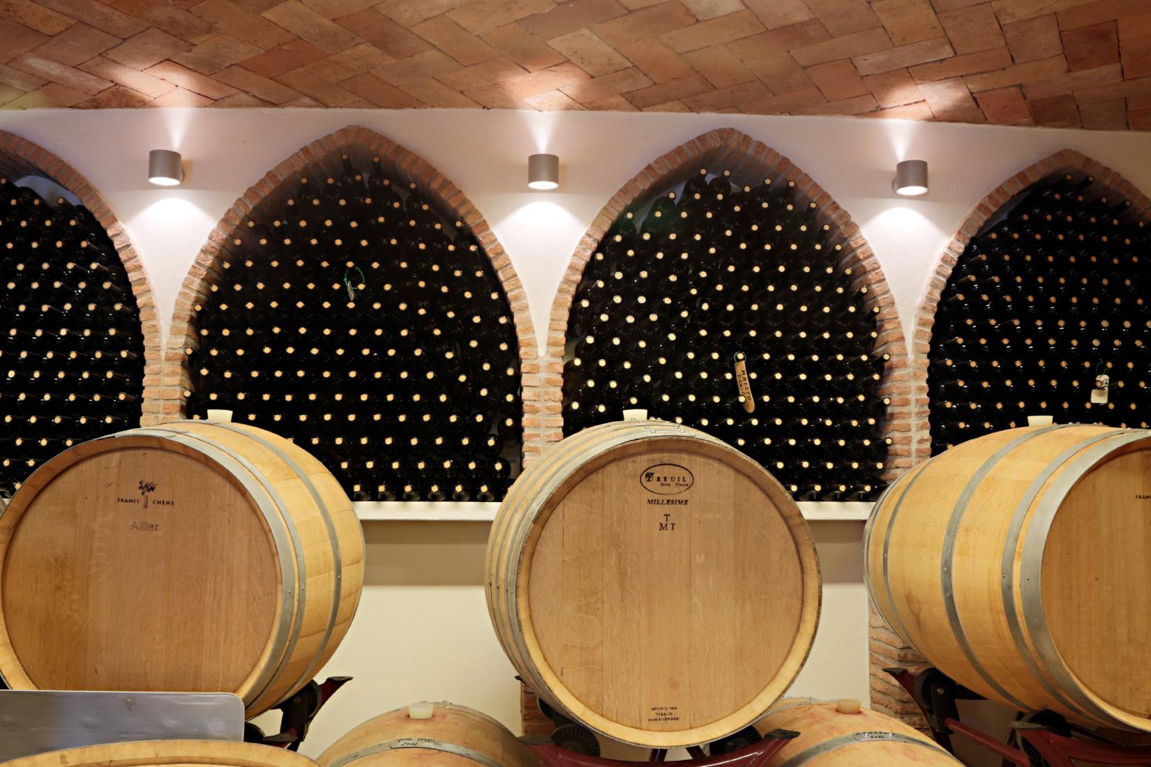 Wine Cellar At Capo D'Uomo