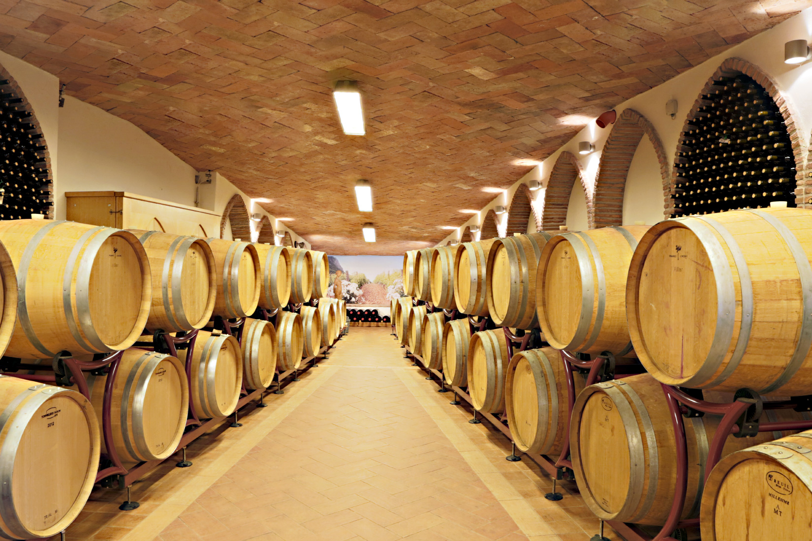 Wine Casks At Capo D'Uomo